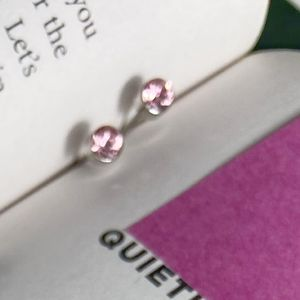 DOTS SOFT PINK CRYSTAL STUDS
